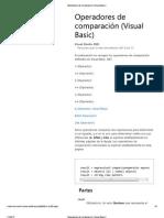 Operadores de comparación (Visual Basic)