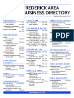 Frederick, S.D., Business Directory – November 2013