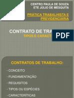 01 Contrato de Trabalho - Tipos e Características