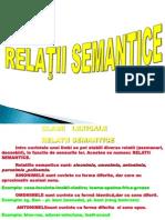 relatii semantice
