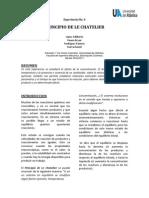 Experiencia IV - Principio de Le Chatelier
