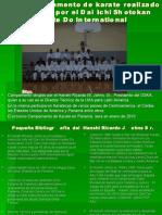 1er Campamento de karate realizado en Panamá DSKA 2009
