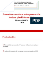 Formation en Culture Entrepreneuriale