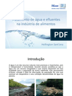 Tratamento de água e efluentes na indústria de