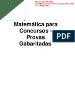 Apostilas-Matematica Para Concursos - Provas Gabaritadas