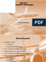 Analysis of Ryanair's Competitive Advantages--2009