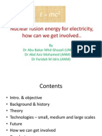 Nuclear Fusion Energy for Electricity - NUSTEC2012 v2