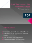 Critical Theory and the Frankfurt School