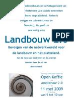Poster Open Koffie over Landbouw 2.0