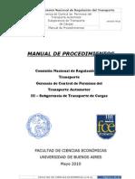 Manual Gerencia de Control de Permisos - III Cargas