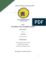 Trabajo - Etica y su Clasificación
