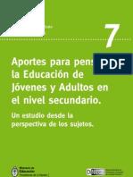 Aportes Para Pensar La Educ de Jovenes y Adultos - Revista 7