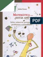 matemática, estás ahí - i y ii - adrian paenza