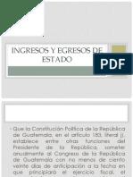Diapositivas de Ingresos y Egresos del Estado -GRUPO 5- SECCIÓN A-
