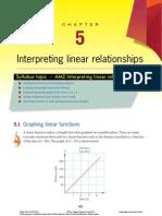 Chapter 5 Interpreting Linear Relationships