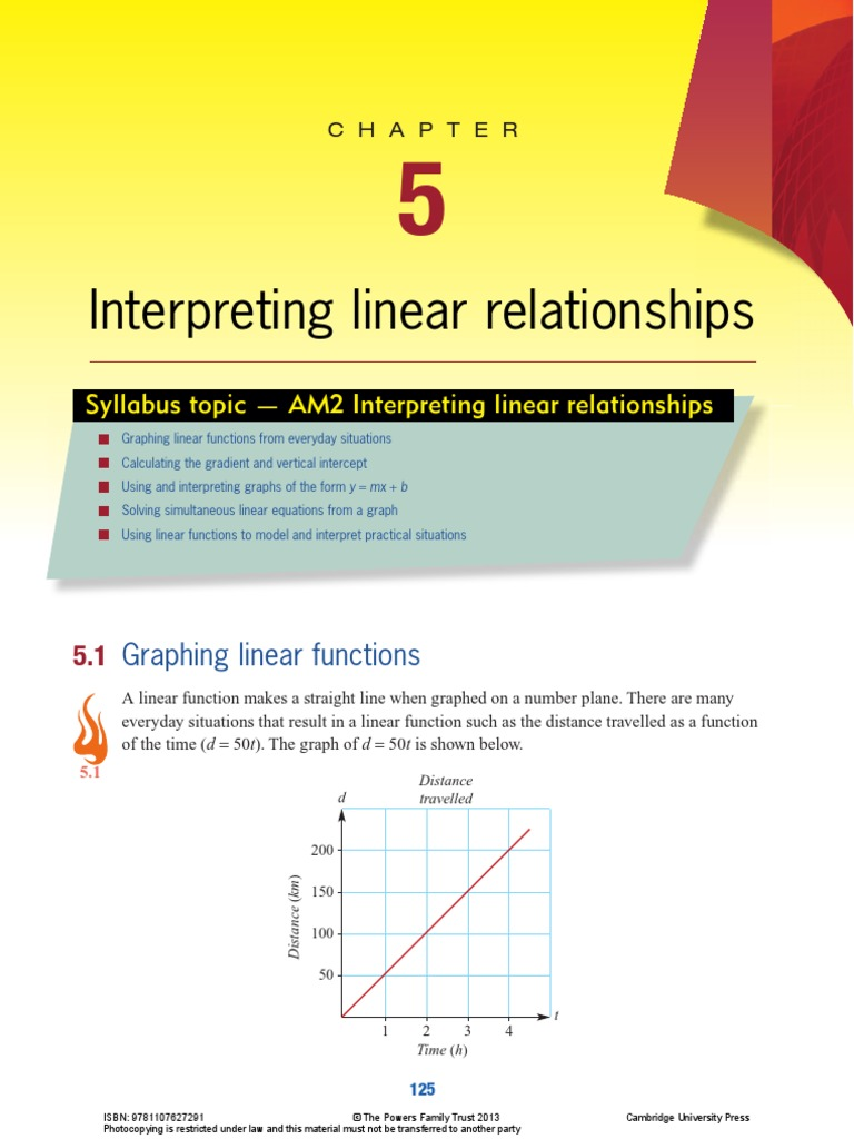 Chapter 5 Interpreting Linear Relationships | Line (Geometry ...