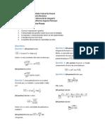 Prova 1 de Cálculo II - Engenharia Mecânica UFPR