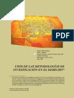 Usos de las Metodologías de Investigacion en el Derecho - Olga Lucia Lopera