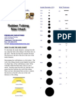 size chart of rubber tubing
