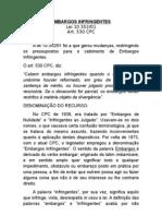 Embargos Infringentes - Processo Civil - Recursos