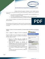 MANUAL DE SOLUCIONES FRECUENTES DE ACTUALIZACIÓN DE SOFTWARE EN WINDOWS
