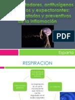 Broncodilatadores, Antitusigenos Mucoliticos y Expectorantes