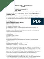 Resumo de Direito Administrativo i 2avb