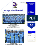 Cass Baseball Newsletter -- 2013 Season Yearbook