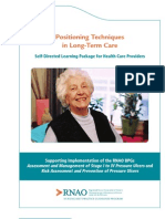 Positioning Techniques in Long-Term Care - Self-Directed Learning Package for Health Care Providers