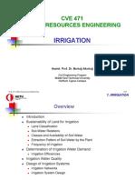 CVE 471 - 7 Irrigation