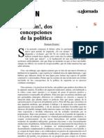 (La Jornada_ ¡Por fin!, dos concepciones de la política)