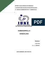 Alternativas Ofrecidas Para Superar El Subdesarrollo en Venezuela