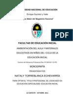 ambientacindelaulaymaterialeseducativosenniosdeliciclodeleducacininicial-120930100447-phpapp01