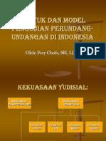 Bentuk Dan Model Pengujian Perundang-undangan Di Indonesia