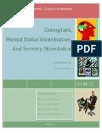 Genogram, MSE and Sensory Stimulation.docxnd Sensory Stimulation