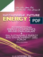 SustainableFutureEnergy2012 Proceeding