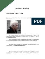 Derrida - LA UNIVERSIDAD SIN CONDICIÓN