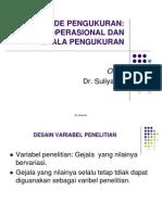 Bab Viii Pengukuran Variabel Definisi Operasional Dan Dan Skala Pengukuran