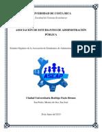 PROPUESTA Estatuto Orgánico de la Asociación de Estudiantes de Administración Pública (ASEAP) 2013