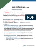 Overview DAAD Funding Jordan