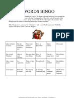 Microsoft Word - Lektion-se 13267 Words Bingo