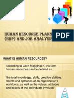 Human Resource Planning and Job Analysis-New