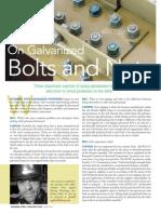 Galvanized Anchor Bolt Design and Installation