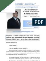 EL MISTERIO DE GENESIS 1;3. Pastor Cristian Arévalo Meynard