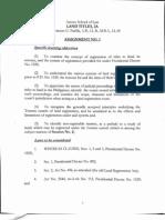 Land Titles Assignment 1