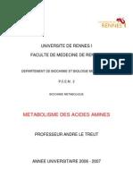46651771 Metabolismes Des Acides Amines