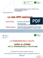 Favaretti, Aguzzoli - Health Promoting Hospitals (Oms)