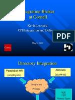 Integration Broker at Cornell