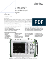 Anritsu - Data Sheet Spectrum Master MS2726C 9 kHz - 43 GHz [11410-00527D]