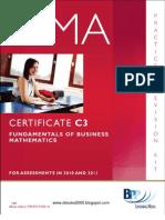 49543880 CIMA Certificate Paper C3 Fundamentals of Business Mathematics Practice Revision
